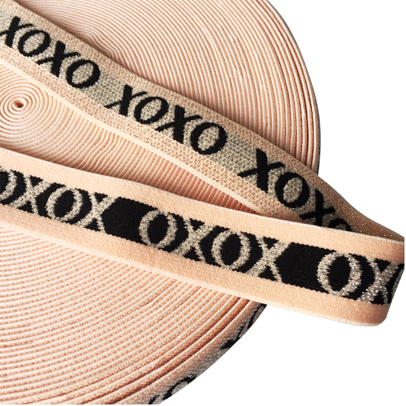 1 25mm Metallic Jacquard Elastic Bands For Clothing