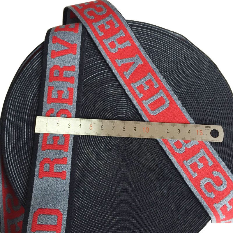 40mm Width Jacquard Elastic Bands With Stretching