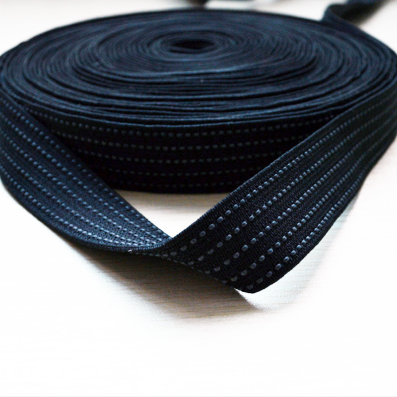 Rubber Non Slip Elastic By The Polyester Yarn
