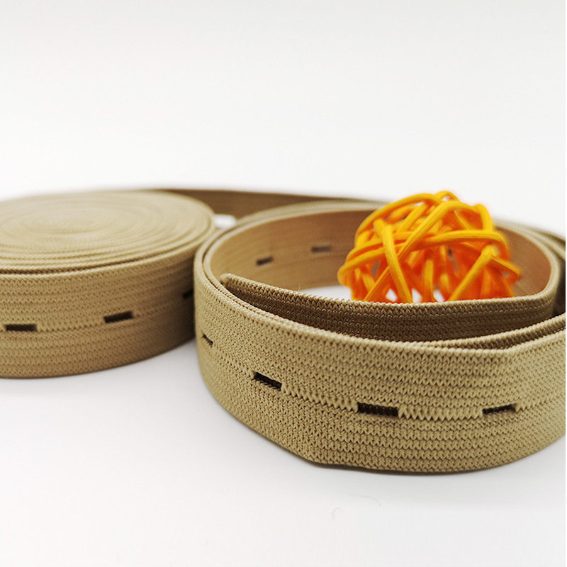 Adjustable Waistband Elastic Band With Buttonhole Function