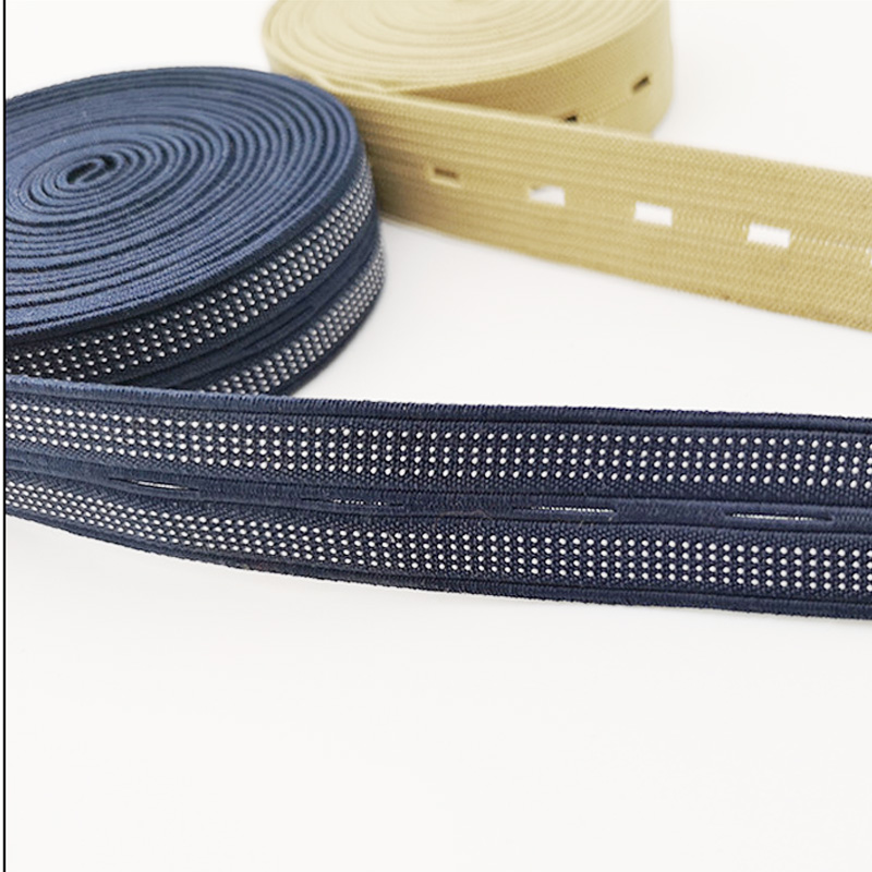 25mm Width Adjustable Buttonhole Elastic Band Baby Clothing