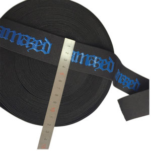 Logo Printed Coated Elastic Band Non Slip Elastic Band