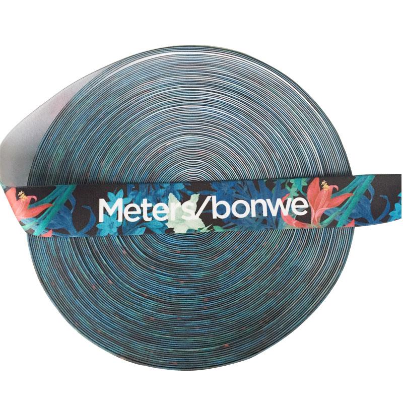 Heat transfer pattern custom printed elastic waistband