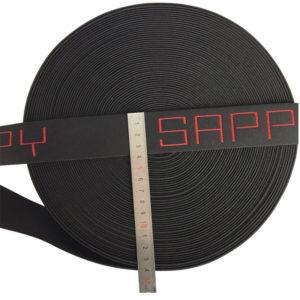 4cm Shiny Jacquard Elastic Band, Underwear Waistband Black Red