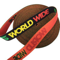 3cm Soft suede nylon fiber elastic band,jacquard logo in Green,yellow and red