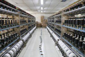 warping for spandex yarn