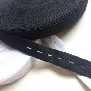 knitted buttonhole elastic band for protective clothing
