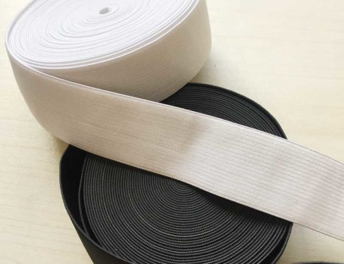 30mm crochect knit elastic tape white black for garment