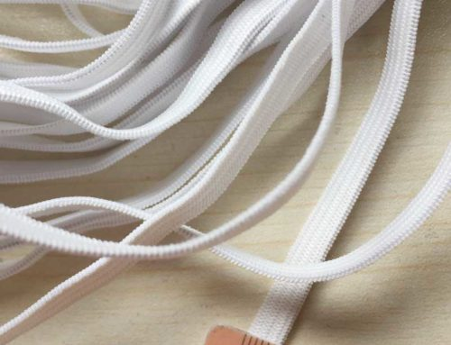 5mm wide knit elastic band white and black for garment accesorry