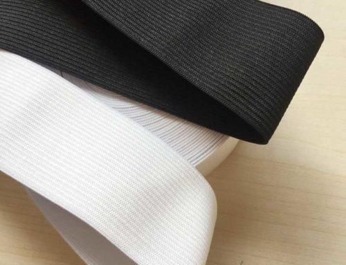 40mm knitted crochect elastic band for waist underwear garment white black